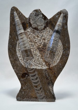"Ammonite Sculpture-5026 (6""x8""x3"")"